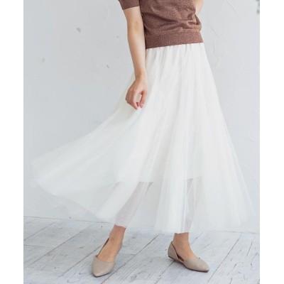 【グローウィングリッチ】 [スカート]Wチュールレーススカート[200106] レディース ホワイト ワンサイズ GROWINGRICH
