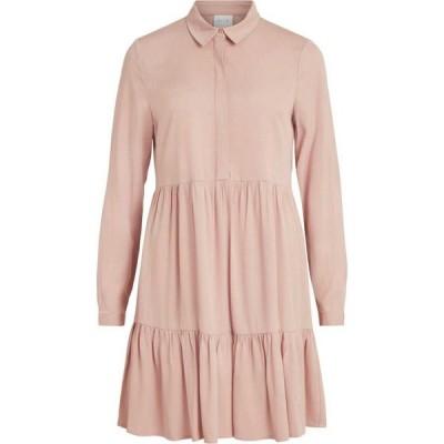 ヴィラ Vila レディース ワンピース ワンピース・ドレス Long Sleeve Dress With Button Detail Misty Rose