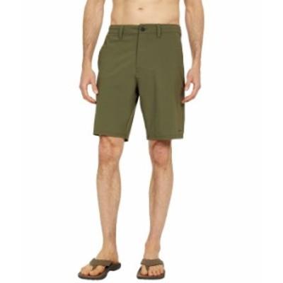 """ボルコム メンズ ハーフパンツ・ショーツ ボトムス Bohnes 20"""" Hybrid Shorts Military"""