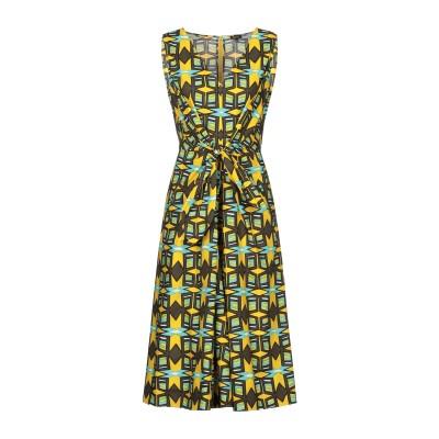 アスペジ ASPESI 7分丈ワンピース・ドレス イエロー 40 コットン 100% 7分丈ワンピース・ドレス