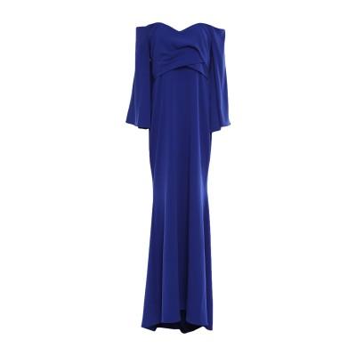 BADGLEY MISCHKA ロングワンピース&ドレス ブルー 10 ポリエステル 98% / ポリウレタン 2% ロングワンピース&ドレス