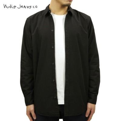 ヌーディージーンズ シャツ メンズ 正規販売店 Nudie Jeans 長袖シャツ ワークシャツ GABRIEL PLAIN WORK SHIRT BLACK B01 140622 3009