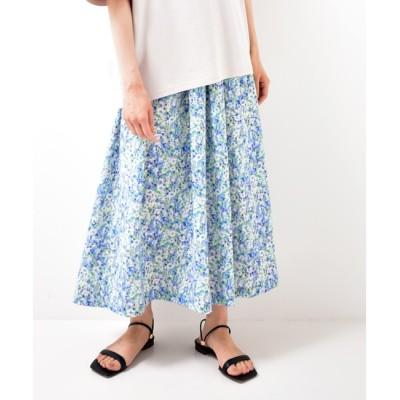 【ルクールブラン/le.coeur blanc】 かすみフラワーギャザースカート