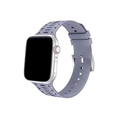 並行輸入品 Bandiction スポーツバンド Apple Watchバンド 42mm 44mm 通気性ソフトシリコンストラップ iWatchバンドシリーズ5/