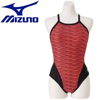 送料無料! ミズノ 水泳 エクサースーツ ミディアムカット 練習水着 レディース N2MA977560 ゆうパケット配送