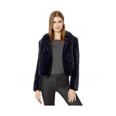 Blank NYC ブランクエヌワイシー レディース 女性用 ファッション アウター ジャケット コート Faux Fur Cropped Jacket in Open Seas - Navy Blue
