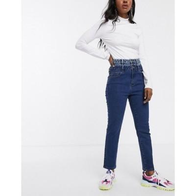 シグネチャーエイト レディース デニムパンツ ボトムス Signature 8 mom jeans with reconstructed waist