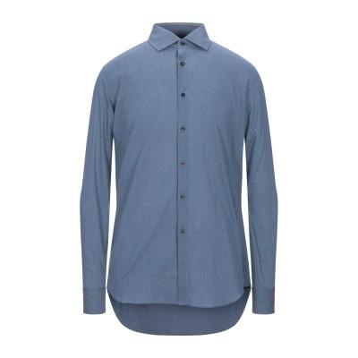 XACUS シャツ ブルーグレー 40 コットン 100% シャツ