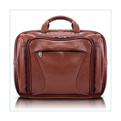 "McKlein, S Series, Irving Park, Pebble Grain Calfskin Leather, 15"" Leather Double Compartment Laptop Briefcase, Brown (15574)並行輸入品"