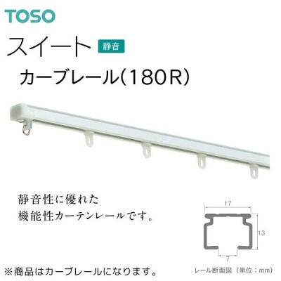 TOSO(トーソー)カーテンレール スイート カーブレール(180R) 1.00m×1.00m(1本)受注生産品