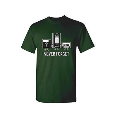 皮肉なグラフィックの父の日ギフト音楽ノベルティおかしいtシャツを決して忘れない