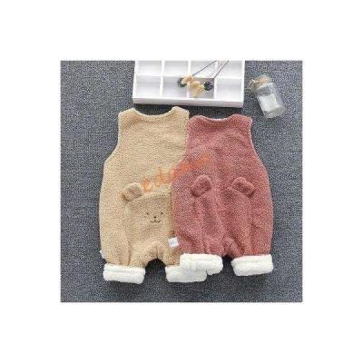 パジャマ キッズ オールインワン 子供服熊柄 男女兼用 フランネル ルームウェア 冬用 赤ちゃん 着るモコモコキッズ ナイトウェア 防寒 あったか
