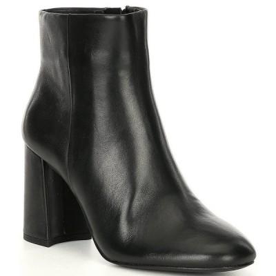 ジービー レディース ブーツ&レインブーツ シューズ A-Dore Leather Side Zip Block Heel Dress Booties Black