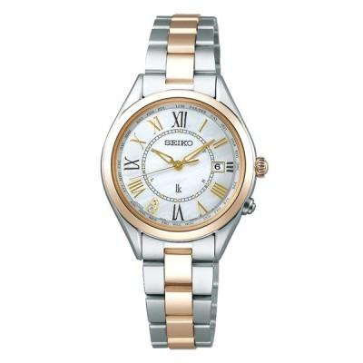 (国内正規品)(セイコー)SEIKO 腕時計 SSQV066 LUKIA(ルキア) レディース Lady Gold チタンバンド 電波ソーラー アナログ