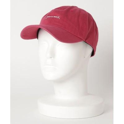 THRASHER by RIFFLEPAGE / GONZ LOGO COTTON DAD CAP/スラッシャー ロゴ キャップ 帽子 ユニセックス ツイルキャップ MEN 帽子 > キャップ