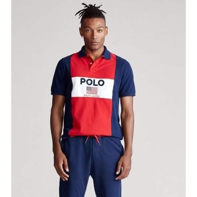 Polo Ralph Lauren/ポロ・ラルフローレン メンズ ポロシャツ Flag Mesh Polo #710781172001-RED