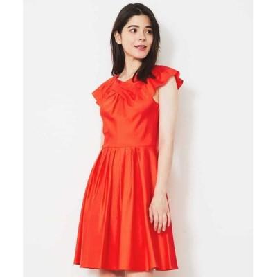 TARA JARMON/タラジャーモン コットンデザインドレス 【洗える】 オレンジ 40