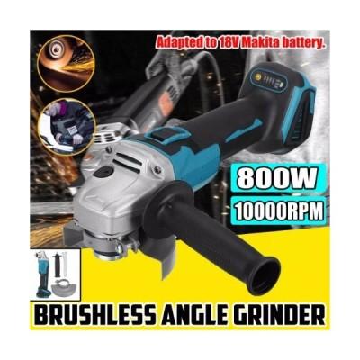 125/100ミリメートル4スピードブラシレス電気アングルグラインダー研削盤コードレスdiy木工ツール18vマキタバッテリー