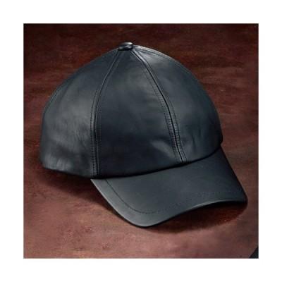 レザーキャップ(ショートバイザー) 日よけ メンズ 帽子 本革 牛革