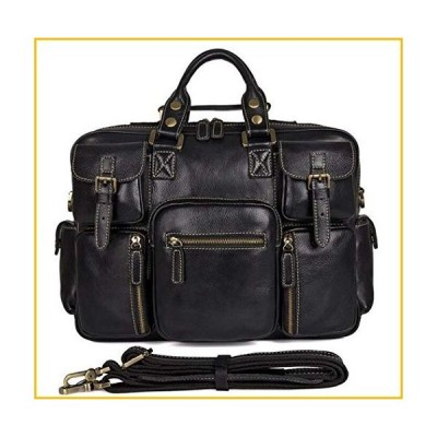 【☆送料無料☆新品・未使用品☆】Full Grain Leather Briefcases Men Classic Messenger Bags 16 Inch Laptop Briefcase Business T
