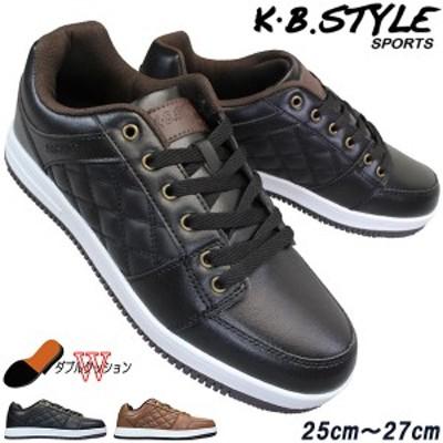 メンズ スニーカー KB.STYLE 6902 カジュアルシューズ メンズスニーカー 靴 紐靴 ダブルクッション