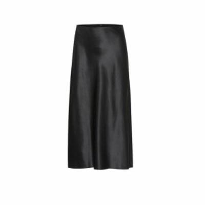ジョゼフ Joseph レディース ひざ丈スカート スカート Frances silk-satin midi skirt Black