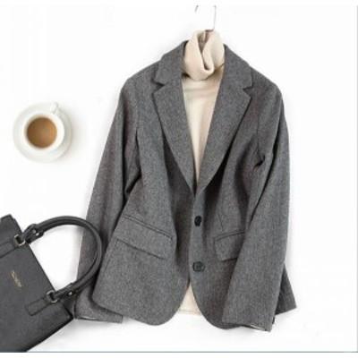 アウター 85%ウール ショート ウールコート レディースコート スーツジャケット 通勤 カッコイイ 暖かい 防寒 保温/C036