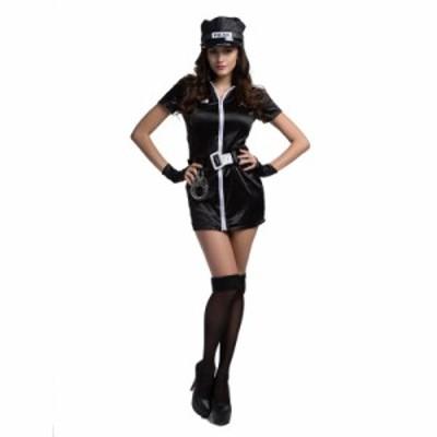 ハロウィン コスチューム コスプレ 警察 刑事 女性用 レディース 学園祭 キャバ セクシーレースクイーン セット 制服 婦人警官