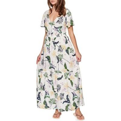 ロキシー Roxy レディース ワンピース ワンピース・ドレス Paradise Song Dress Snow White Large Praslin