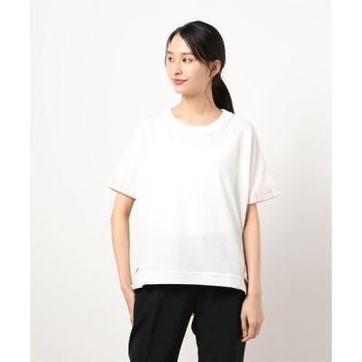 tシャツ Tシャツ MX ワッフルストライプ切替ゆるプルオーバー●