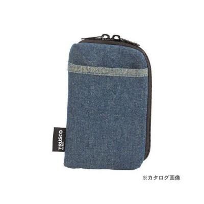 TRUSCO デニムスマホケース 2ポケット ブルー TDC-S101