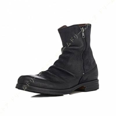 メンズ ブーツ メンズブーツ ショートブーツ ドレープブーツ エンジニアブーツ ワークブーツ サイドジッパー フォーマル 幅広 防滑 チャッカブーツ 靴