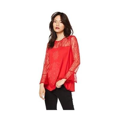 [デシグアル] Tシャツ Tシャツロングスリーブ レディース 19SWTKAN    2XL    ピンク/レッド