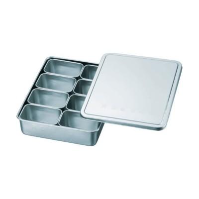 スギコ 18−8検食用容器 田型日付入 8個入 285×221×63 (1個) 品番:KS-901