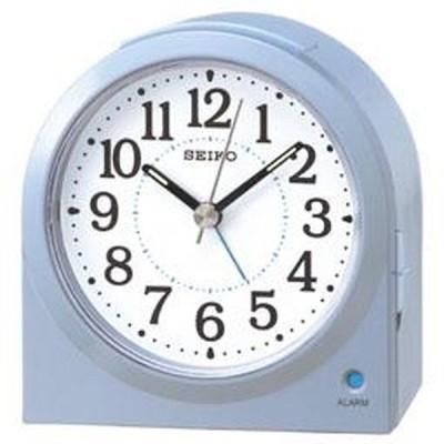 SEIKO セイコー 目覚まし時計 アナログ 薄青パール KR894L【お取り寄せ】