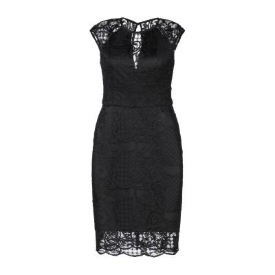 ゲス GUESS ミニワンピース&ドレス ブラック XS レーヨン 66% / ナイロン 34% / ポリエステル / ポリウレタン ミニワンピース