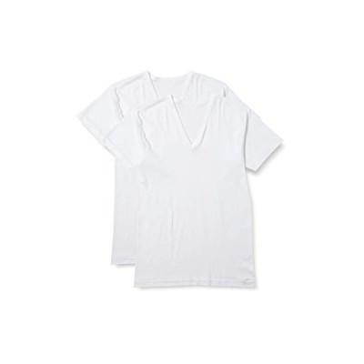 [グンゼ] インナーシャツ 抗菌防臭 速乾フライス Vネック半袖 2枚組 RC2415C メンズ ホワイト M
