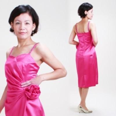 【フォーマルドレス レンタル 結婚式】【9号-11号 ピンク ワンピース】15993 レディースドレス 20代 30代 40代