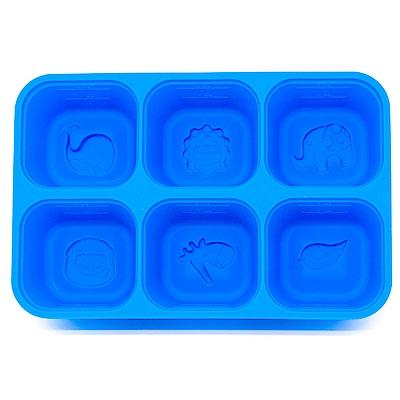 【Marcus & Marcus】 動物樂園矽膠副食品分裝保存盒(6色可選)