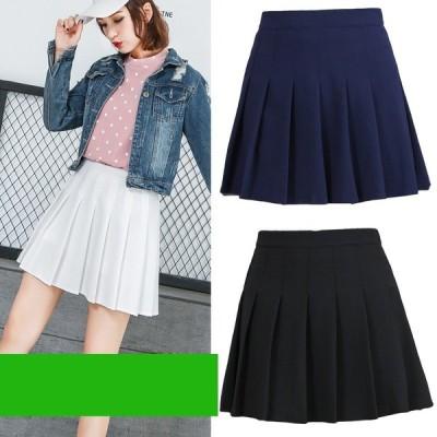 4color プリーツスカート ミニスカート スクール 制服 スカート 発表会 インナーパンツ付き Aラインスカート キュロット 女子 高校生 ボトムス 大きいサイズ