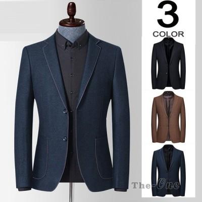 ブレザー スーツジャケット テーラード メンズ ジャケット はおり 1ボタン ビジネス スリム アウター 2019 新作