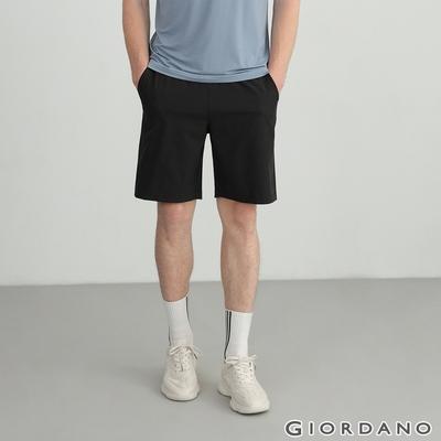 GIORDANO 男裝四面彈力內抽繩短褲 - 09 標誌黑