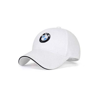 車ロゴ 調節可能な野球帽 ユニセックス 帽子 旅行キャップ カーレーシングモーターキャップ BMW用 ホワ