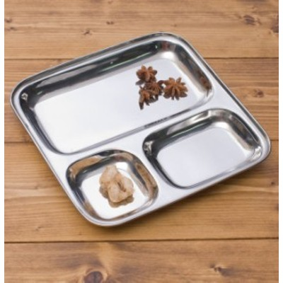 3分割ランチプレート 約25cm / カレー 皿 カレー皿 インド ターリー チャイ チャイカップ アジアン食品 エスニック食材