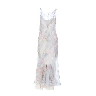 メゾン マルジェラ MAISON MARGIELA ロングワンピース&ドレス ライトグレー 44 シルク 100% ロングワンピース&ドレス