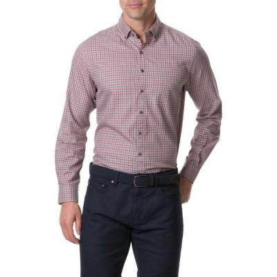ロッドアンドガン メンズ シャツ トップス Gammons Regular Fit Check Button-Up Shirt RHUBARB