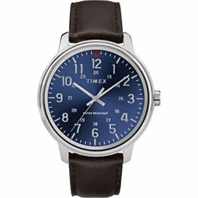 腕時計 タイメックス メンズ Timex Men's Year-Round Quartz Watch with Leather Strap, Brown, 20 (Mode