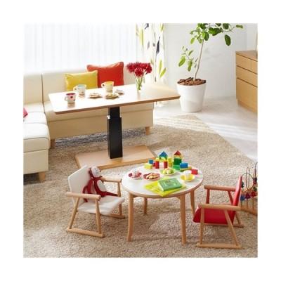 大塚家具 [幅120]昇降式ダイニングテーブル 「フィット」Cタイプ(長方形) ハイタイプ メープル材
