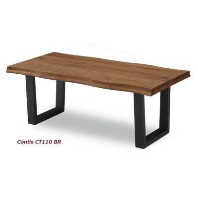 センターテーブル コンティス-2 110 WAL (ウォルナット,天然木,無垢,ナチュラル,モダン,セール,リビングテーブル)