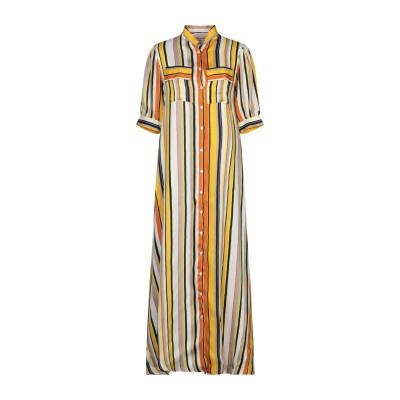 MARIUCCIA ロングワンピース&ドレス オークル S レーヨン 100% ロングワンピース&ドレス